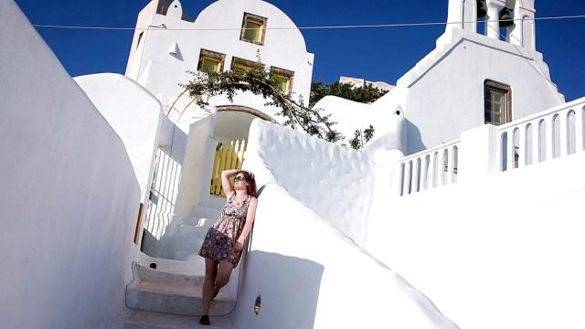 descoperim orasul Pyrgos, Santorini