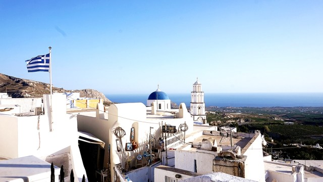 view from Pyrgos, Santorini