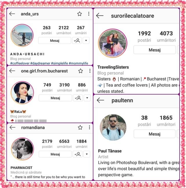 conturi instagram favorite noiembrie