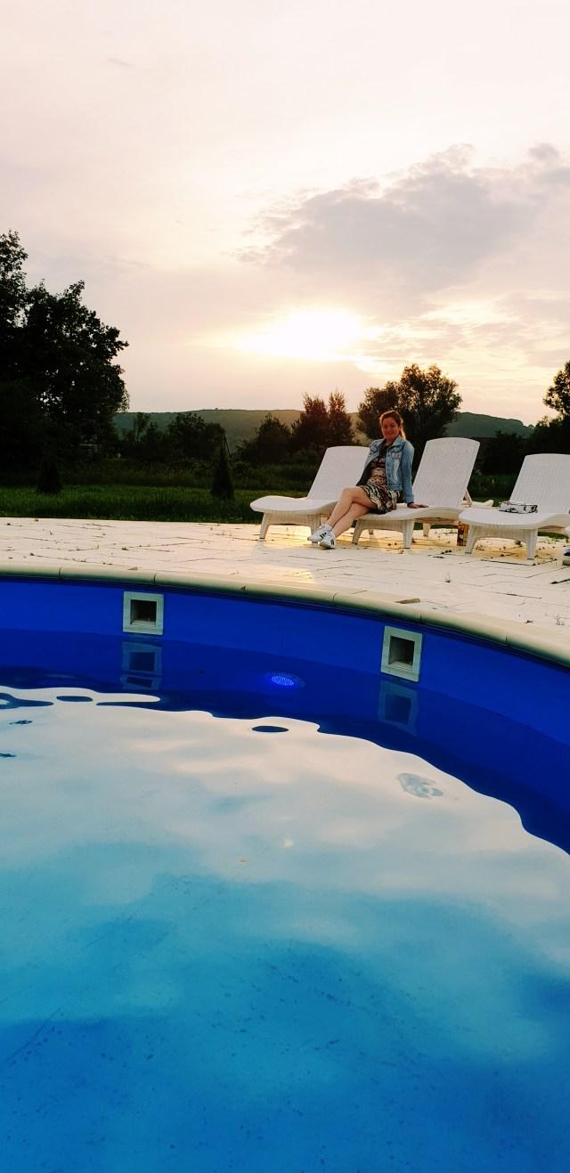 la piscina la palatul Brukenthal