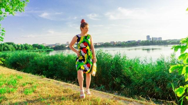 rochie de vara inflorata BonPrix