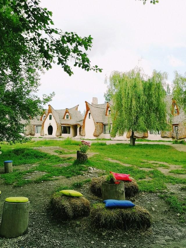 view from Castelul de lut Valea Zanelor