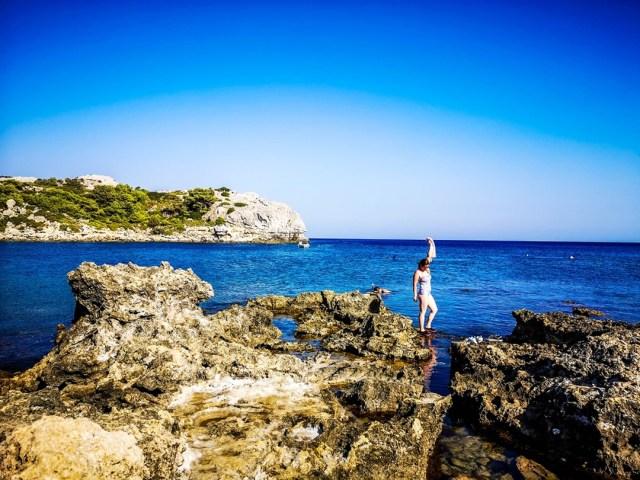 lorys blog at Ladiko Beach in Rodos