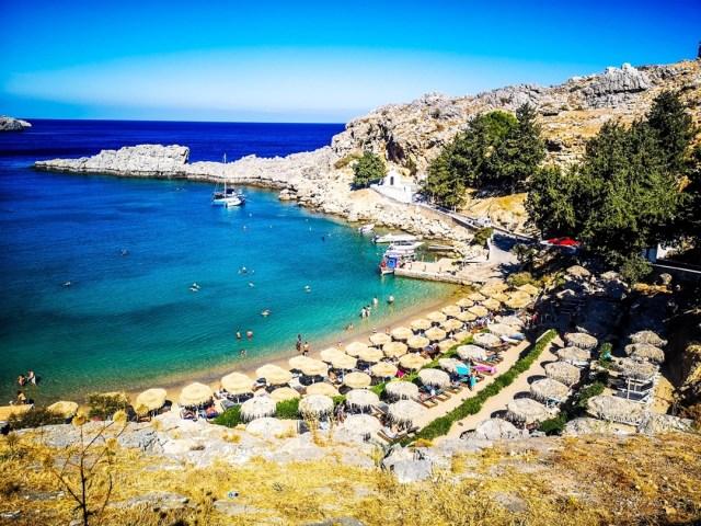 Agios Pavlos Bay in Rodos, Greece