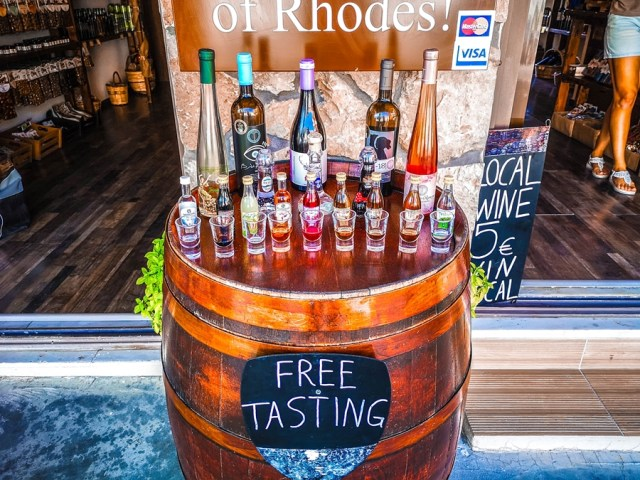 free tasting wines in Rodos