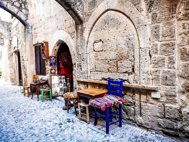 magazine in old town Rodos