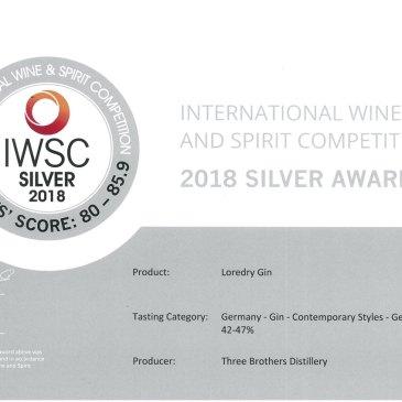 IWSC Silber für LOREDRY