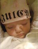 infant wearing knit cap