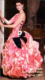Lorelei Shellist, Los Angeles Fashion Consultant modeling Christian Lacroix ball gown