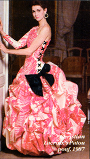 Lorelei Shellist, Los Angeles Fashion Consultant modeling Christian Lacroix ball gown