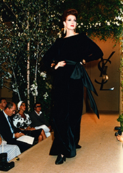 Lorelei Shellist, Los Angeles Fashion Consultant modeling YvesSt.Laurent