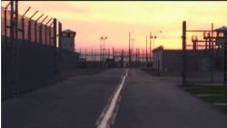 sunset sky behind Valley State Prison
