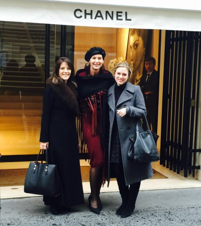 Marianne Williamson, Lorelei Shellist, India, at Chanel in Paris