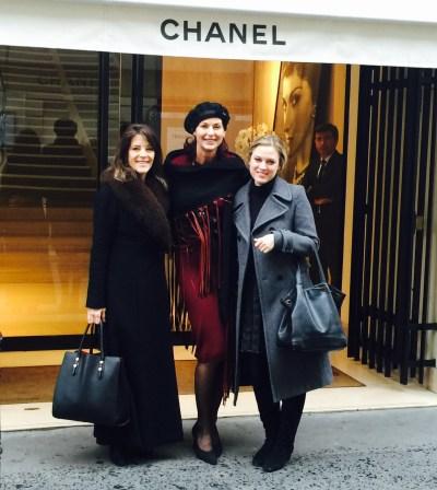Marianne Williamson, Lorelei Shellist, India, at Chanel in Paris
