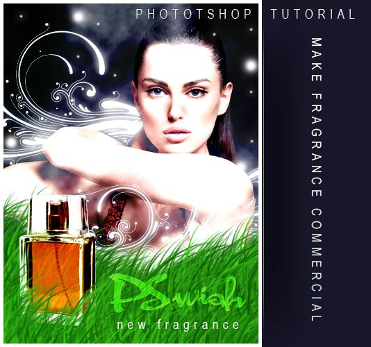 Tutorial Make Perfume Commercial In Photoshop Lorelei Web Design