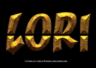 Photoshop Tutorial - Ancient Rough Gold Effect, Perfect for Game Logos and Text - Text effects Lorelei Web Design