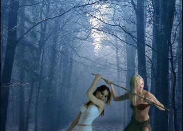 Design a Surreal Fantasy Art Forest Flood Tale - fantasy art Lorelei Web Design