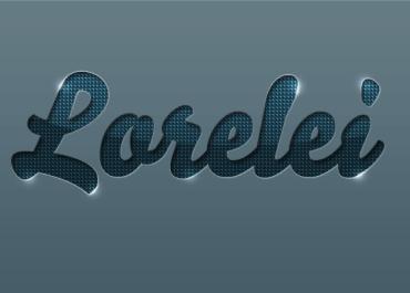 Designed Stylish Embossed Text with Metallic Glow - Photoshop Tutorials Lorelei Web Design