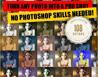 Download Our Best Selling 108 Killer Photoshop Actions Set - Features Lorelei Web Design