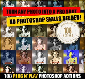 Download Our Best Selling 108 Killer Photoshop Actions Set - Features Lorelei Web Design