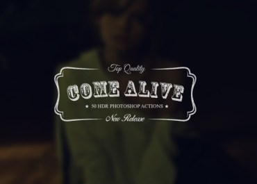 "Download 50 New Creative HDR Actions ""Come Alive"" - Features Lorelei Web Design"
