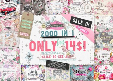 Download 2000 Graphics in 1 Bundle - Only This Week! - Web Graphics & UI Lorelei Web Design