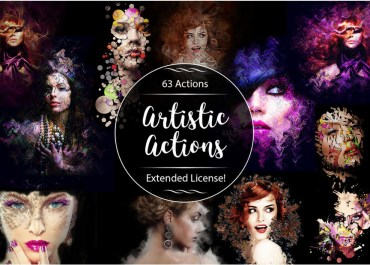 Download 63 Amazing Artistic Actions to Spice Up Your Photoshop Game - Photoshop Actions Lorelei Web Design