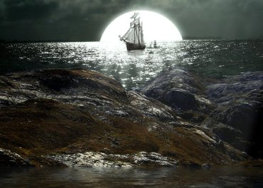 Design Dark Sea Ship Photo Manipulation Scene - Photoshop Tutorials Lorelei Web Design