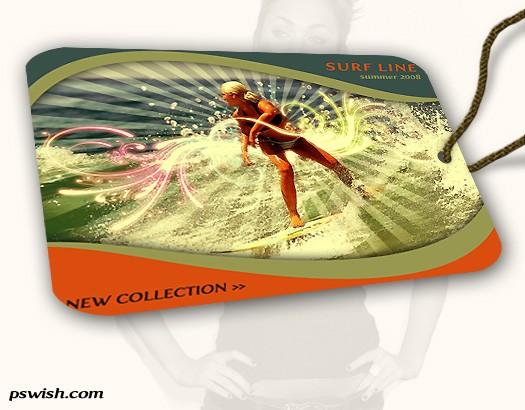 Create A Stylish Surfing Fashion Label Tag - Photoshop Tutorials Lorelei Web Design