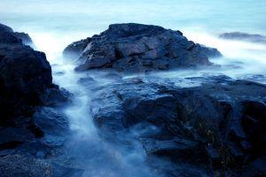 waves on long exposure