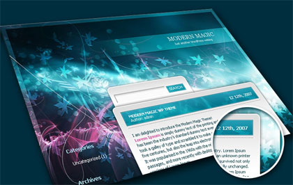 Modern Magic - Free WordPress Theme