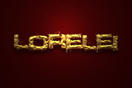 Design a Realistic Crumbled Gold Text Effect - Photoshop Tutorials Lorelei Web Design