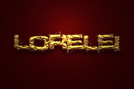 Highest Quality Text Effect Tutorials for Photoshop - Photoshop Resources Lorelei Web Design