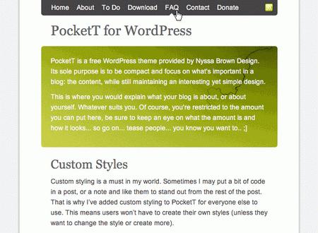 Pockett in 100 Excellent Free WordPress Themes