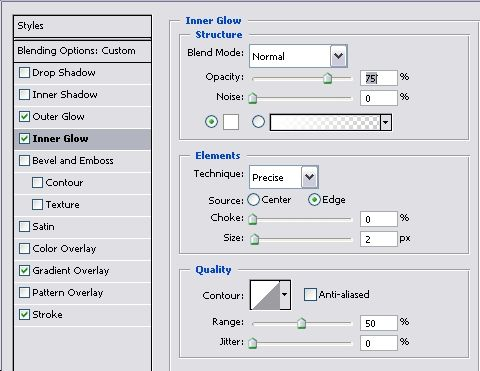 Comprehensive Tutorial for Metallic Navigation Menu - Photoshop Tutorials Lorelei Web Design
