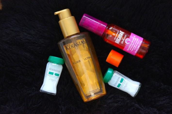 Leave in hair oils Kerastase Elixir Ultimate Argan Oils for hair