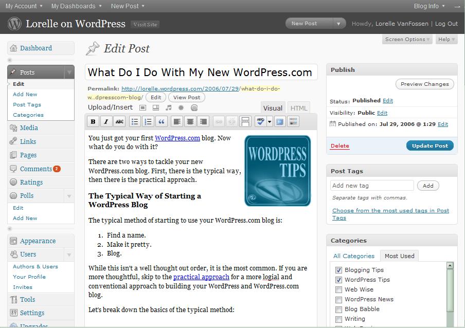 WordPress Post Panel - 2.8