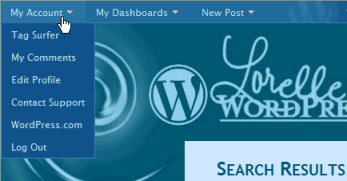 WordPress.com Admin Bar