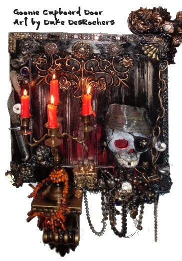 Artwork by Duke DesRochers - The Goonie Cupboard Door
