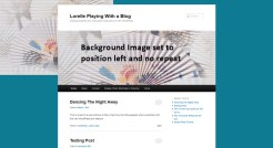 Background Image - Left and No Repeat - Lorelle WordPress School