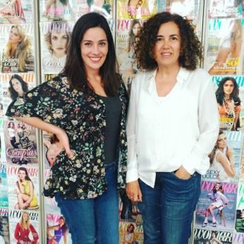 Con Myriam Serrano, redactora de Woman magazine