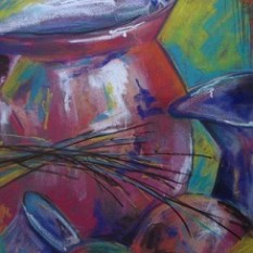 #CP110 'Still Life' Original Art - soft pastel