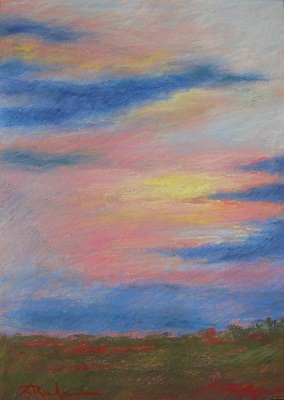 #SP1230 'Good Morning' Original Art - soft pastel