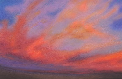 #SP1602 'October Sky' Original Art - soft pastel