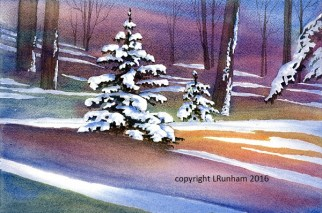 #WC707 'Winter Shadows' .......... watercolour PRINT .......... see PRICE LIST for size options
