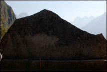 exemple de rocher image représentant le yanantin / exemple of image rock mimicking Yanantin mountain