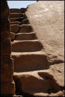 escalier du secteur du rocher sacrée (près de l'entrée au Huayna Picchu)
