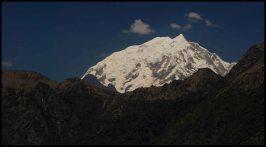 view from Machu Picchu mountain, Salkantay (?)