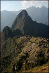 view of the western side of Machu Picchu, Huana Picchu in the background