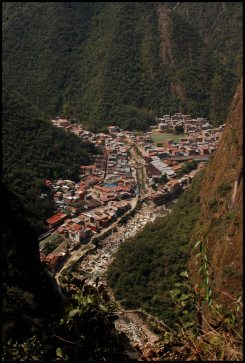 Machu Picchu Pueblo / Aguas Calientes from above